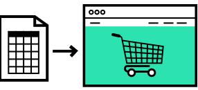 Icon data import webshop