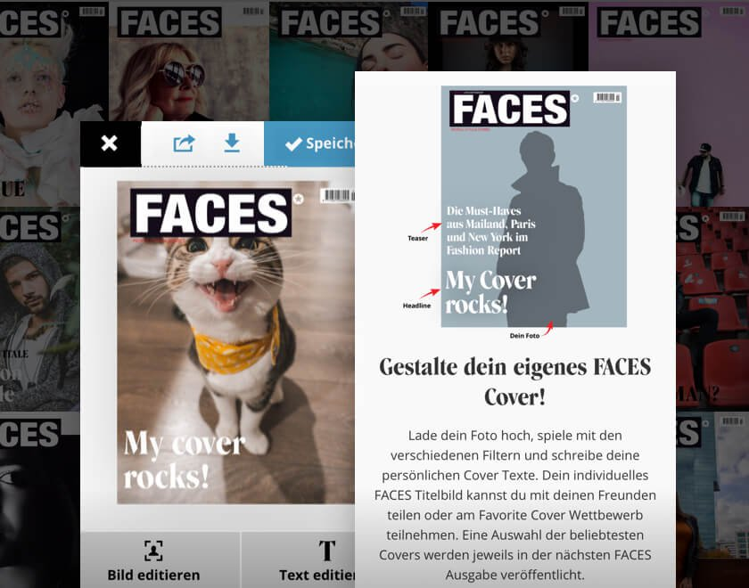 Projekt Faces Magazin Cover Generator