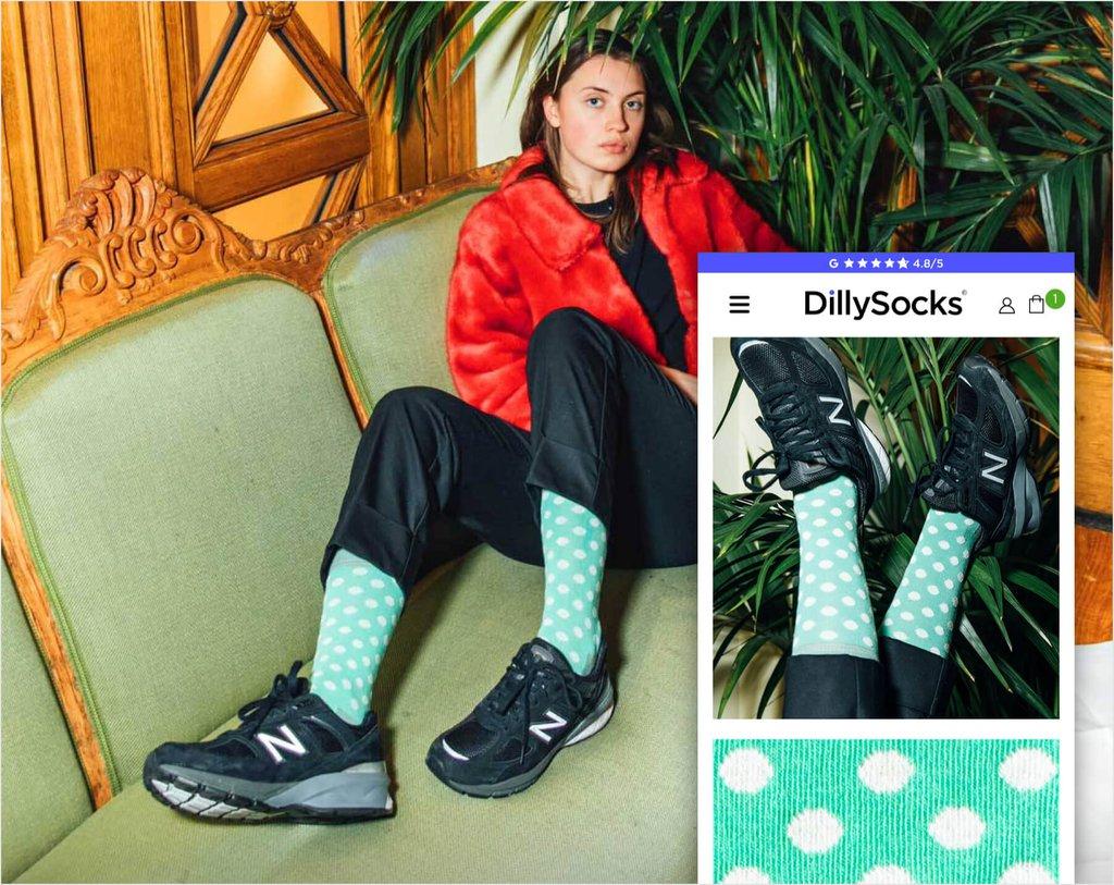 Dillysocks E-Commerce Fallstudie Bild 01