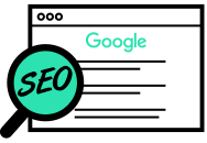 Icon Suchmaschineoptimierung SEO