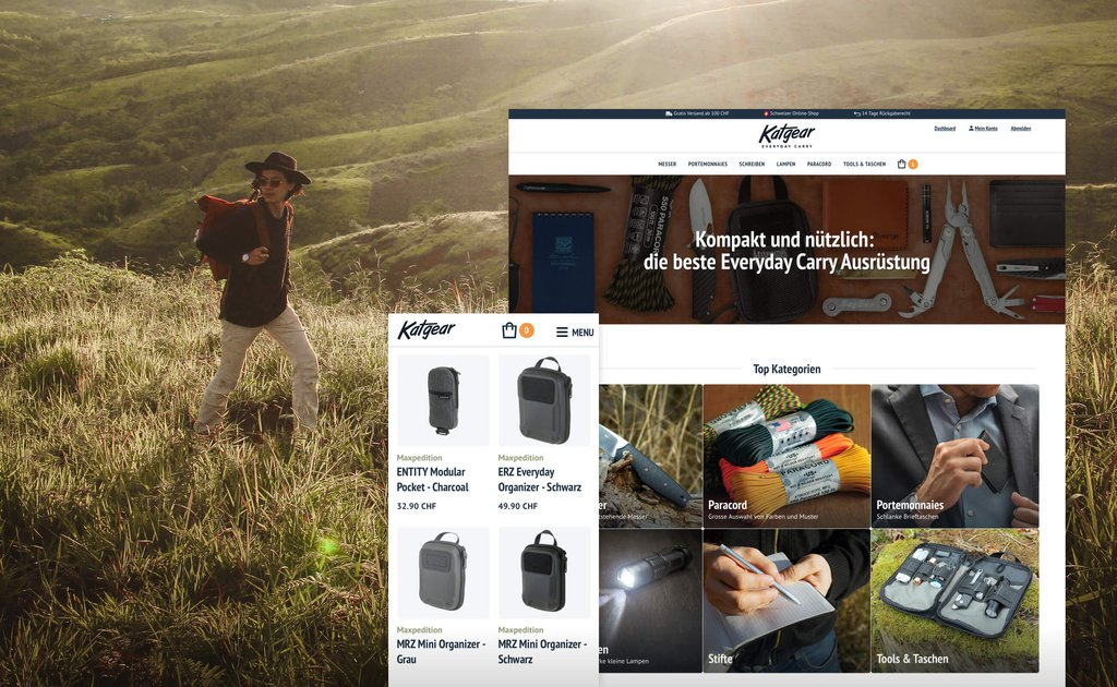 Headerbild Fallstudie Katgear Everyday Carry e-commerce