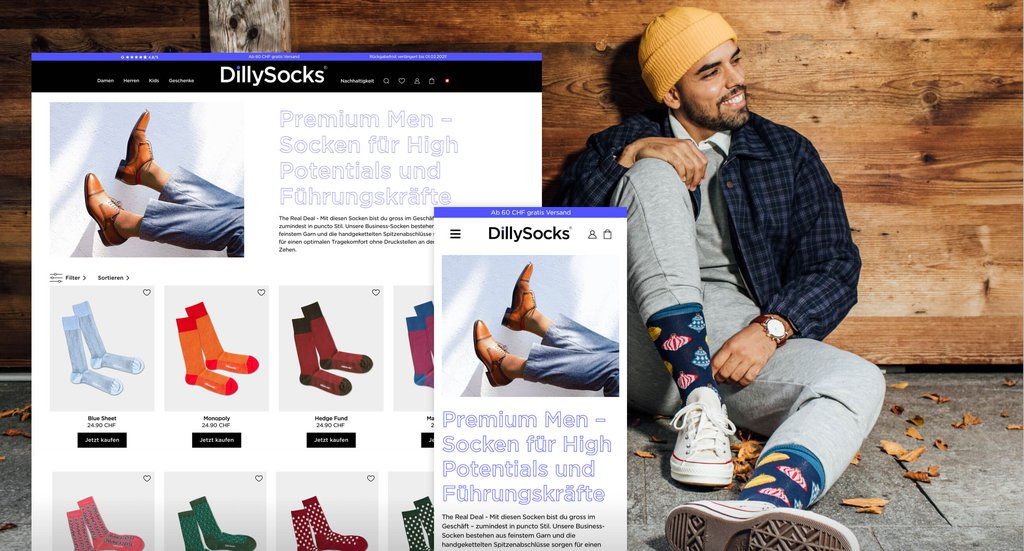 Headerbild Fallstudie Dillysocks e-commerce