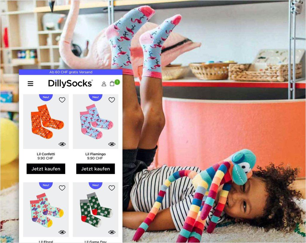 Dillysocks E-Commerce Fallstudie Bild 03